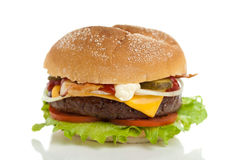 Big cheeseburger Royalty Free Stock Image
