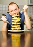 Big Cheeseburger Stock Images