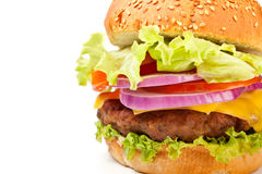 Big cheeseburger Royalty Free Stock Photos