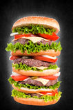 Big cheeseburger Stock Photo