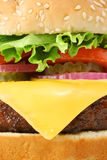 Big cheeseburger hamburger macro closeup Stock Photos