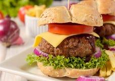 Big cheeseburger Royalty Free Stock Image