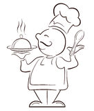 Big chef Mr. cook. A illustration of cook graphic Stock Image