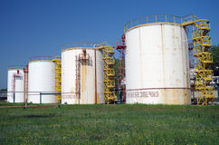 Big chemical tank petrol . Royalty Free Stock Photos