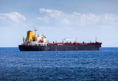 Big Chemical Tanker in the Atlantic Ocean Stock Photography