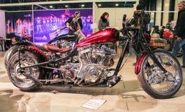 Big cherry motobike. Royalty Free Stock Photography