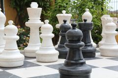 Big chess Stock Photo