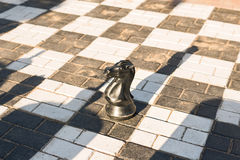 Big chess board on the street. Outdoors Royalty Free Stock Photos