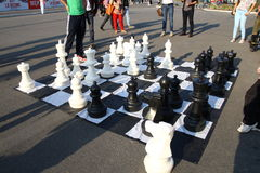 Big chess games Royalty Free Stock Photos