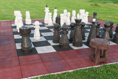 Big chessboard Stock Photos