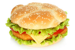 Big chicken burger Stock Photography