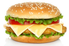 Big chicken hamburger Stock Image