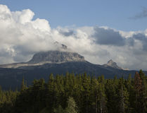 Big Chief Mountain In Clouds Stock Images