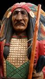 Big chief, wooden carving Royalty Free Stock Photo