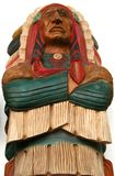 Big chief, wooden carving Royalty Free Stock Photos