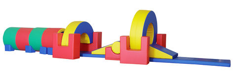 Big children's game complex - obstacle course Stock Photos