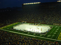 The Big Chill at the Big House Under the Lights. The Big Chill at The Big House outdoor hockey game between Michigan and Michigan State at Michigan Stadium Stock Photos