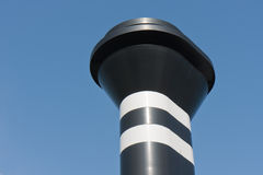 Big chimney of a ferry against a blue sky Stock Image