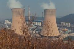 Big chimney smoking Royalty Free Stock Image