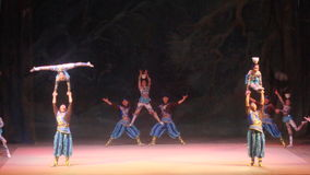 Big Chinese circus in Kiev, Ukraine stock photography