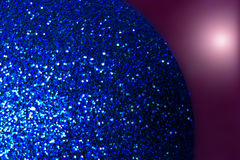 Chistmas bauble. A sparkly christmas decoration Royalty Free Stock Image