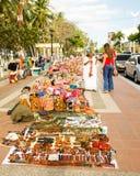 Big choice !. Indian crafts seller at Riohacha, Colombia Royalty Free Stock Photo