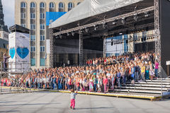 Big choir. Tallinn, Estonia, EU Royalty Free Stock Photos
