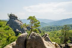 Chopped stone in the mountains Royalty Free Stock Image
