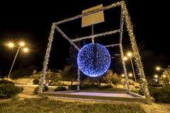 Christmas ball pendulum roundabout. Stock Photography