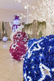 Big Christmas  balls Royalty Free Stock Images