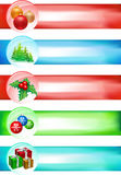 Big Christmas banner set. Christmas banner set. five banners Royalty Free Stock Image