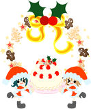 A big Christmas cake. Stock Images
