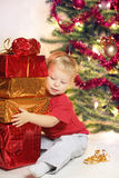 Big christmas gift Stock Photos