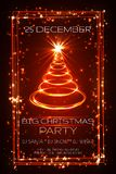 Big christmas party greeting card, vector.  Royalty Free Stock Images