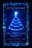 Big christmas party greeting card, vector.  Stock Photography