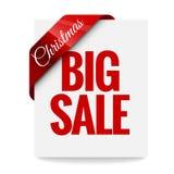 Big Christmas sale. Label Royalty Free Stock Image