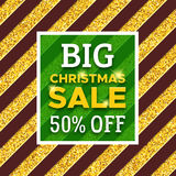 Big Christmas Sale 50 percent off promotion banner Royalty Free Stock Photos