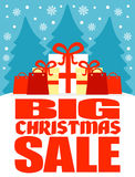 Big Christmas sale poster Royalty Free Stock Image