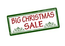 Big Christmas sale. Rubber stamp with text big Christmas sale inside,  illustration Royalty Free Stock Photos