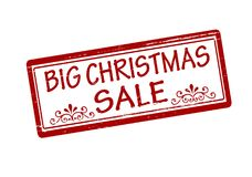 Big Christmas sale. Rubber stamp with text big Christmas sale inside,  illustration Royalty Free Stock Photography