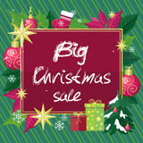 Big Christmas Sale Vector Flat Style Concept Royalty Free Stock Photos