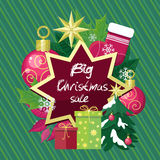 Big Christmas Sale Vector Flat Style Concept Royalty Free Stock Image