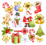 Big christmas set Stock Image