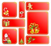 Big christmas set. Isolated objects Royalty Free Stock Images