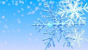 Big Christmas Snowflakes. stock footage