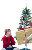 Big Christmas surprise Royalty Free Stock Image