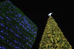Big christmas tree in Bangkok. Stock Photography