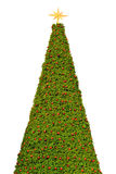 Big christmas tree isolated. On white background Royalty Free Stock Photography