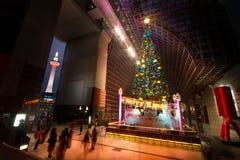 Big Christmas tree and Kyoto tower Stock Image