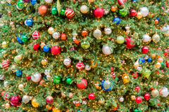 Big Christmas tree lights and decorations. In Galleria Shopping Mall, Houston, Texas. Shot horizontally Royalty Free Stock Photos